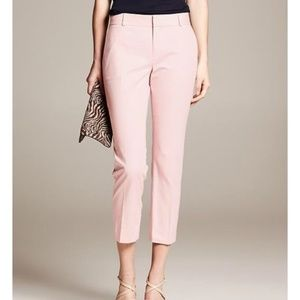 NWT Banana Republic Pink Hampton-Fit Jacquard Pant